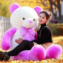 stuffed toy large 160cm purple teddy bear plush toy hug bear doll soft throw pillow,Valentine's Day,Xmas gift c615