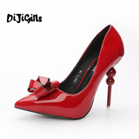 Fashion New Office Lady Pointed Toe 9cm Red Bottom High Heels Shoes Mixed Colors Red Sole