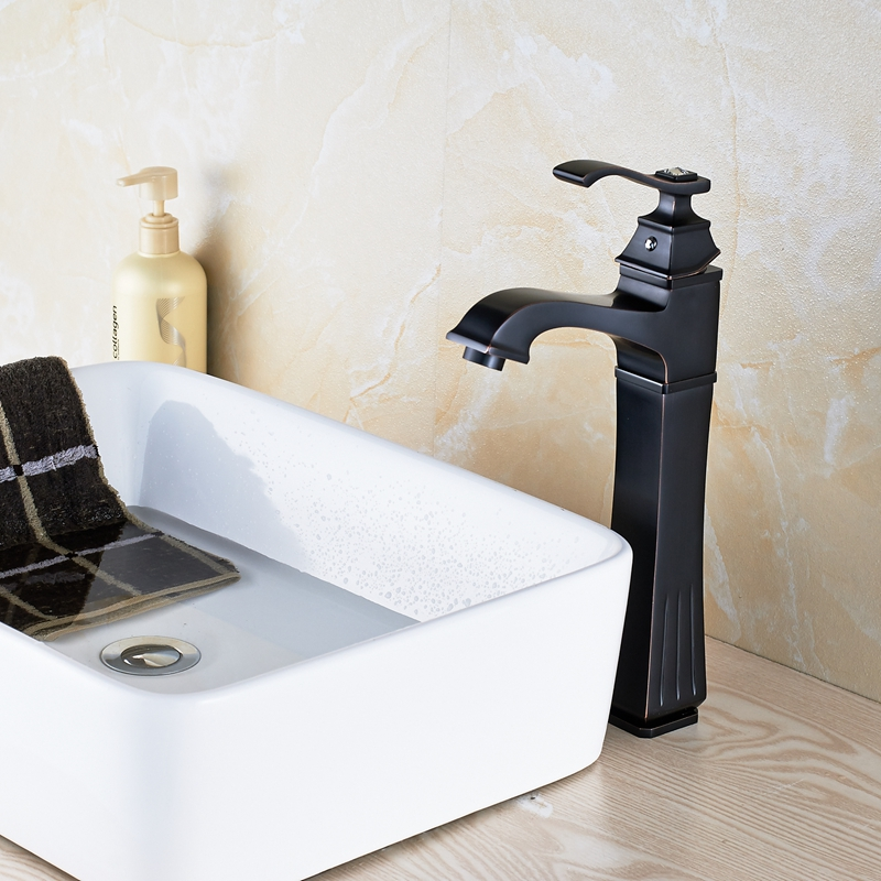 7 Faucet Finishes For Fabulous Bathrooms: Modern Oil Rubbed Bronze Finish Bathroom Sink Faucet Hot