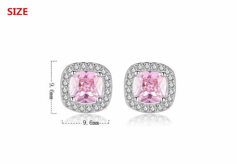 100% Plata de Ley 925 de moda brillante cz zirconia star Ladies 'studs earrings joyería femenina Anti alergias drop shipping barato regalo