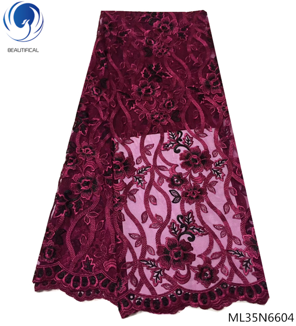 BEAUTIFICAL african net lace fabrics wholesale african french net laces latest lace fabric fabrics high quality 2019 ML35N66