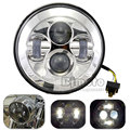HL-012-CR 7 Inch 2 Color Waterproof Motorcycle LED Headlight Motorbike LED Driving Fog Spot Head Light Lamp For Harley