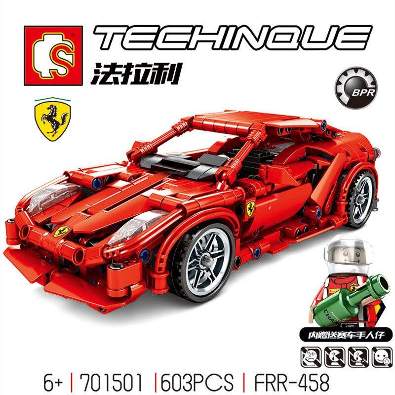 701501 City Super Racers Compatible Legoed Speed Champion Supercar Ferraris Model Building Blocks Bricks Child Kids Toys Sets