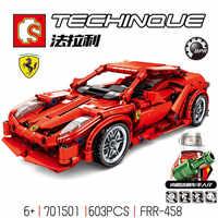 701501 cidade super pilotos compatível legoed velocidade campeão supercar ferraris modelo blocos de construção tijolos criança crianças brinquedos conjuntos