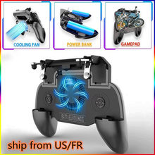 SR Ponsel Gaming Gamepad Cooler Cooling Fan Api Pubg Mobile Game Controller Pubg Gamepad Joystick Logam Pemicu untuk iPhone(China)