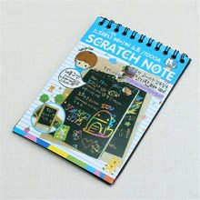 20pcs Magic Colorful Drawing Board Paper Painting Scraping Kids learning Education Toys Doodle Scratch 10x14cm