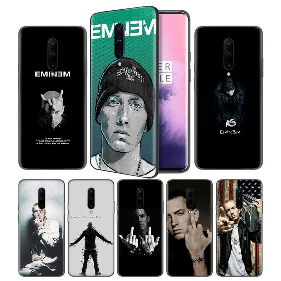Hip Hop Rapper Eminem rap Soft Black Silicone Case Cover for font b OnePlus b font