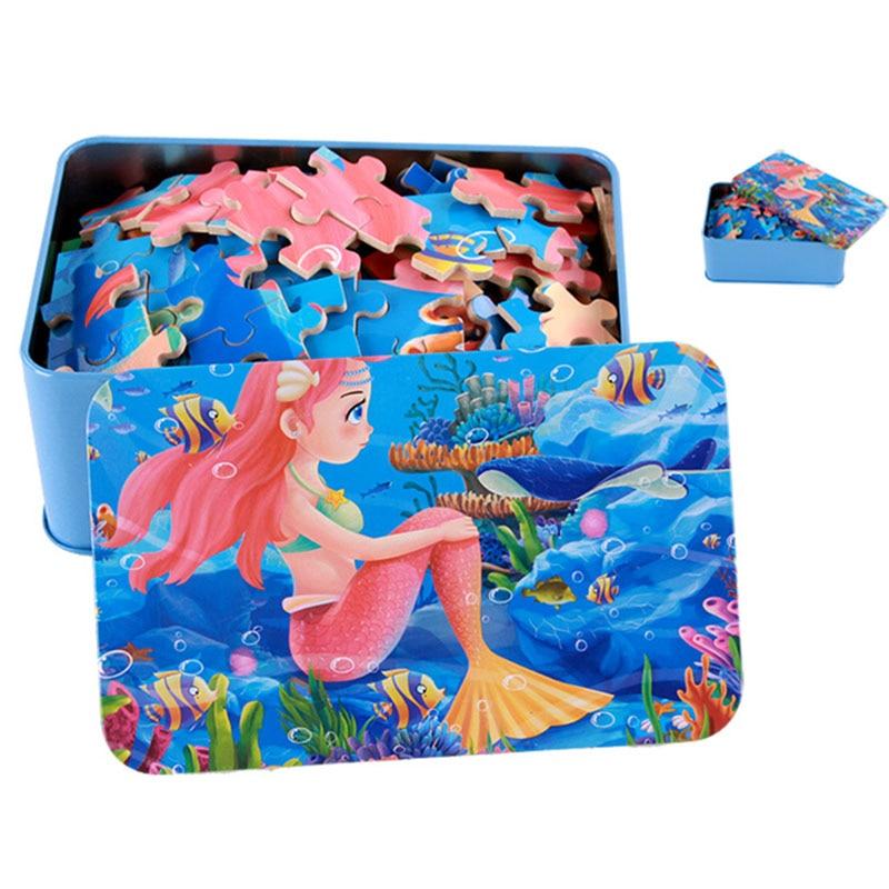 200pcs / box Cartoon 3D Puzzle avec Iron Box pour enfants Jigsaw - Jeux et casse-tête - Photo 1
