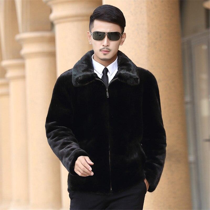 Veste Taille S Fourrure 4xl Vêtements Manteau Daim Imitation 3xl Black Hommes Haute Zipper 2018 Nouveaux De 5xl En xxl qftwxO7