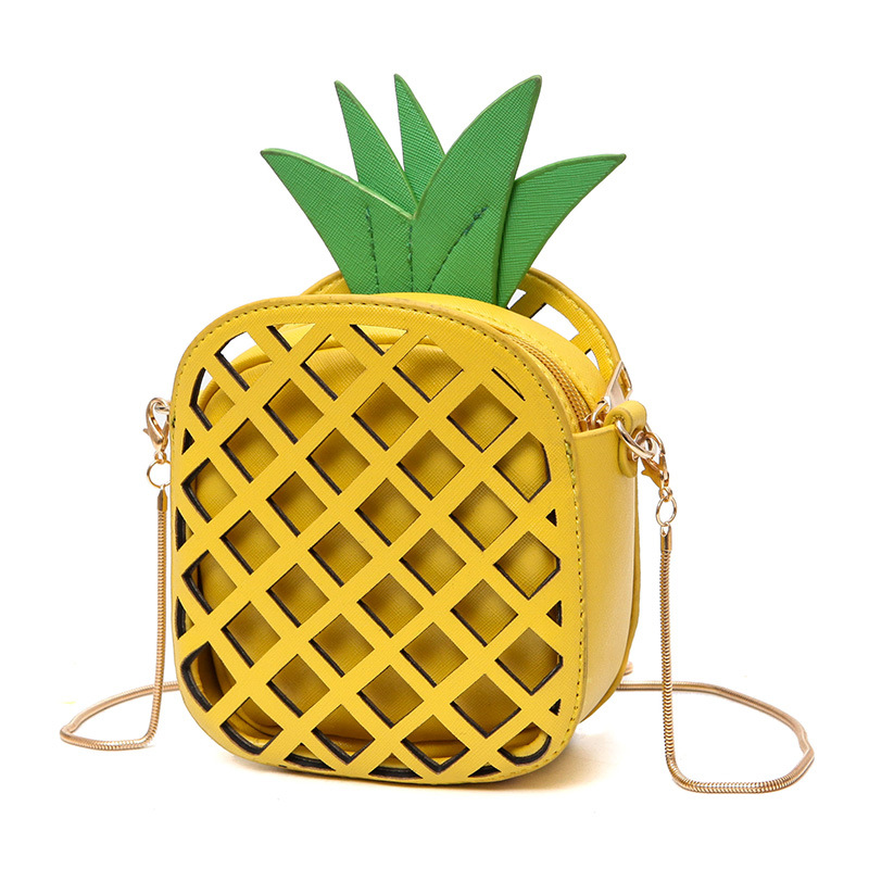 Women s Fashion Pineapple Shape Lovely Handbags Cute Shoulder Bag for Women