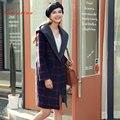 Quintina 2017 Новая Мода Плед Свободные Пальто Женщин Casaco Feminino Шерстяные Пальто С Капюшоном Женский Пальто Зимняя Шерсть Пальто Женщин