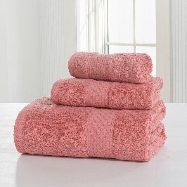 SunnyRain Pezzi Tinta Unita In Cotone Asciugamano Set di Asciugamani Da Bagno Pe