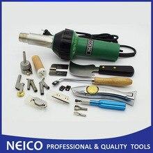 Frete grátis, kit de solda de ar quente ou vinil neico 1600w, kit profissional de solda de linóleo ou piso vinil com pistola de calor de plástico e acessórios