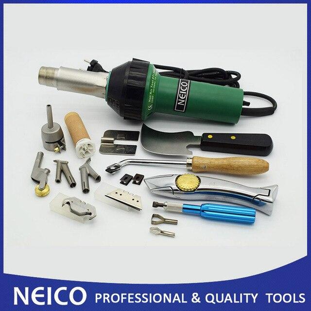 NEICO Kit professionnel de soudage à Air chaud au sol, en linoléum ou en vinyle, 1600W, avec pistolet thermique en plastique et accessoires, livraison gratuite