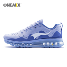 ONEMIX Air Men's Sports Running Shoes cushioning breathable Massage Sneakers for males sport footwear 2017 male athletic out of doors 1223
