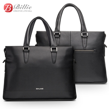 """Laptop bag case For Macbook Asus Dell 12""""13""""14"""" Deluxe Genuine Mens Briefcase High Quality handbag computer bags Notebook bag"""