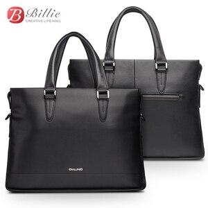 """Image 1 - Сумка для ноутбука, чехол для Macbook Asus Dell 12 """"13"""" 14 """", роскошный подлинный мужской портфель, Высококачественная Сумочка, компьютерные сумки, сумка для ноутбука"""