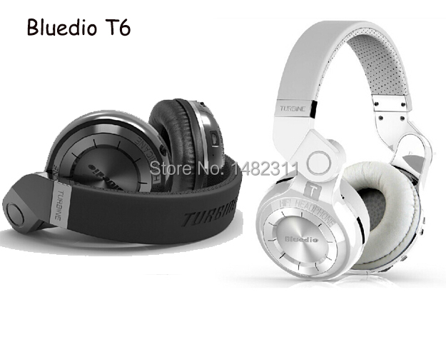 Original Bluedio T2 3.5mm Powerful Bass Stereo Bluetooth V4.1 Wireless Headphone Bulit-in Microphone Noise Isolating Ear Burds