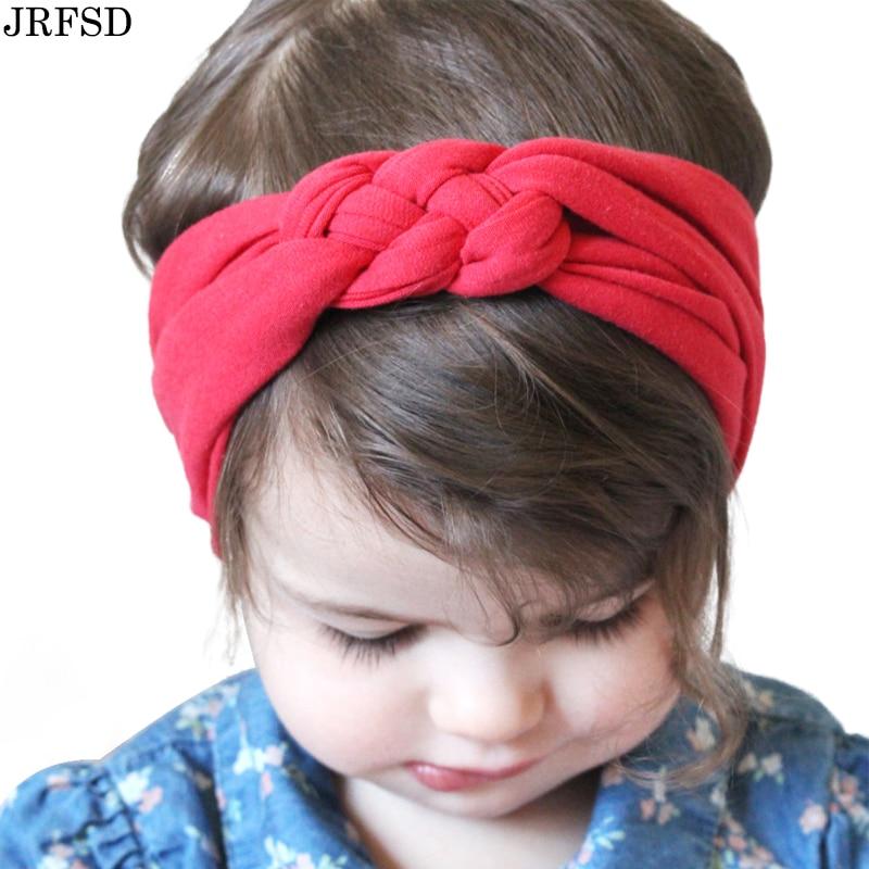 JRFSD Cute Solid color Headband Knot Hair Bands Elasticity Hairbands 100% Cotton Headband Hair Accessories jrfsd cute solid color headband knot hair bands elasticity hairbands 100