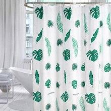 Nordic Bath Curtains Bathroom Monstera Waterproof Shower Curtain Bathtub Bathing Cover Extra Large Wide 12 Hooks rideau de bain