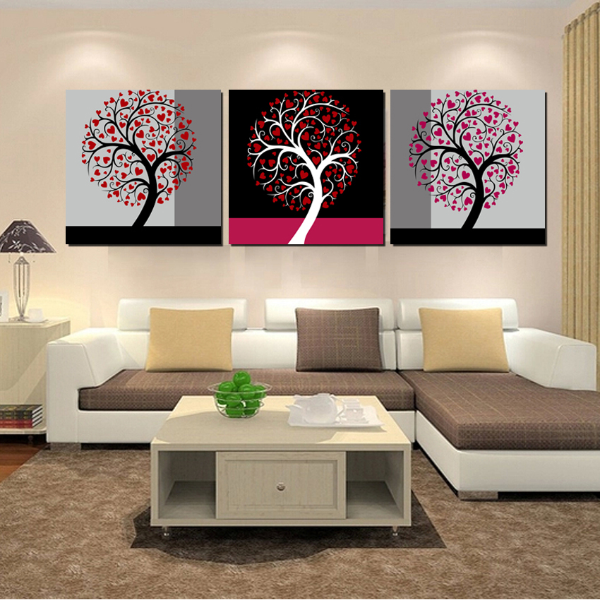 Compare Prices on Triptych Tree Art- Online Shopping/Buy Low Price ...