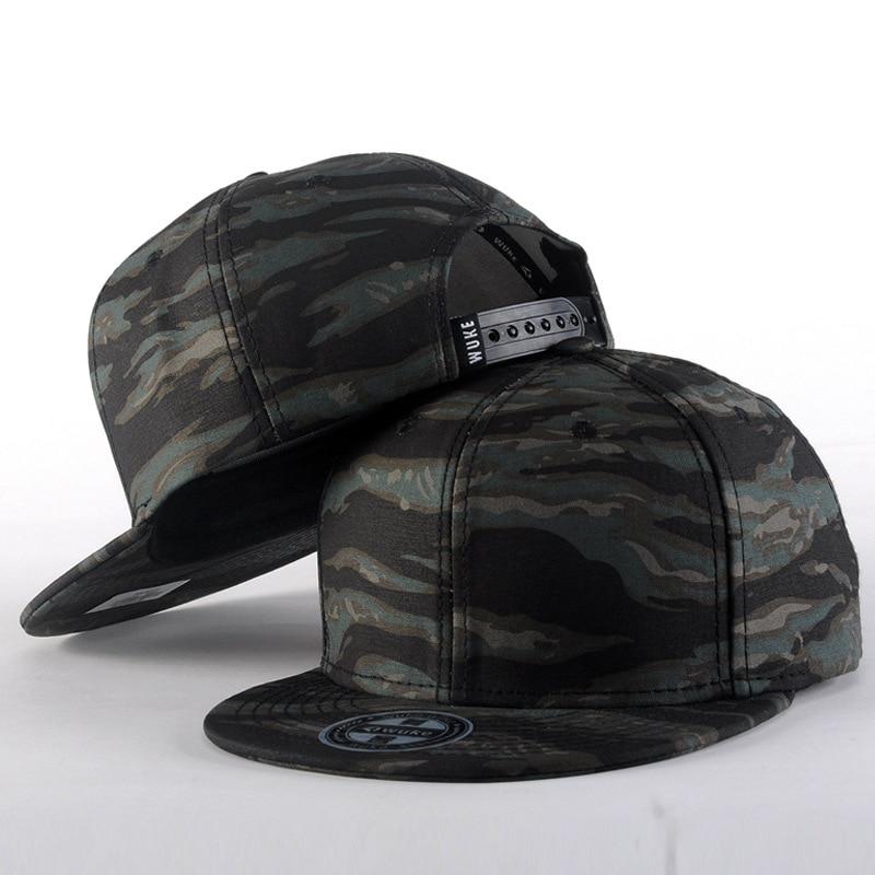 Camo Camouflage Snapback Caps 2016 New Gorras Planas Hip Hop Hats For Men 6 Panel Baseball