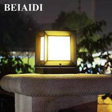 BEIAIDI Открытый Садовая Колонка лампа парк квадратный освещение для жилых помещений пейзаж лампа-колонна водостойкий уличный Стигма световой столб
