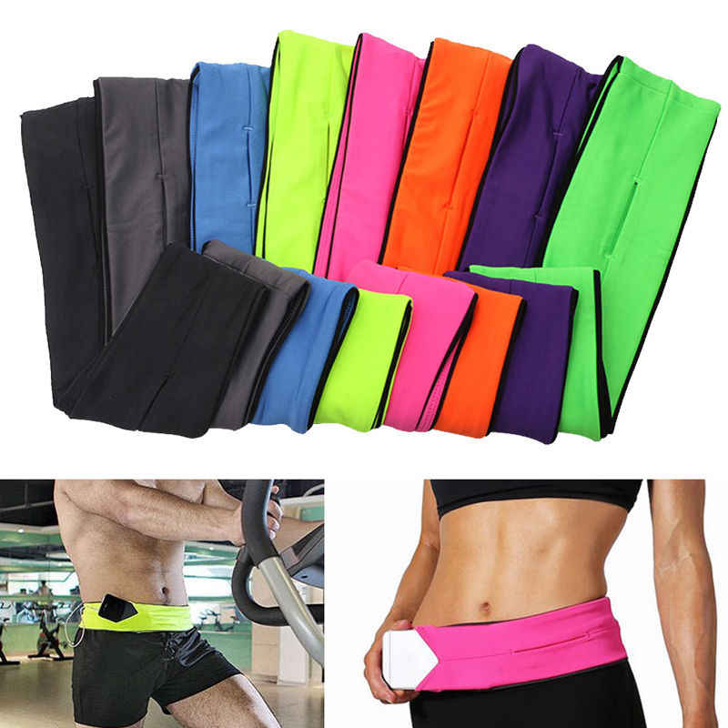 Mulheres correndo saco chaves do telefone bolsa jogging cinto corrida maratona ciclismo cintura barriga sacos bumag carteira ginásio fitness cintura