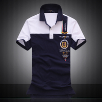High Quality 2017 Brand Clothing Militare Air Force One Short Sleeve Polos Male Homme Embroidery Horse