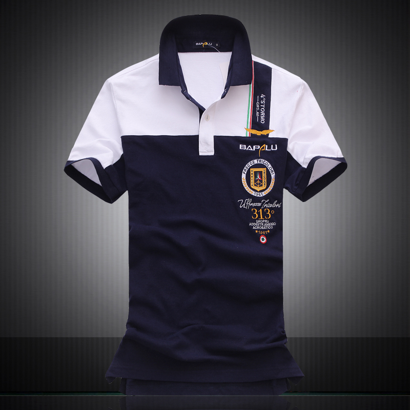High quality 2017 brand clothing militare air force one for High quality embroidered polo shirts
