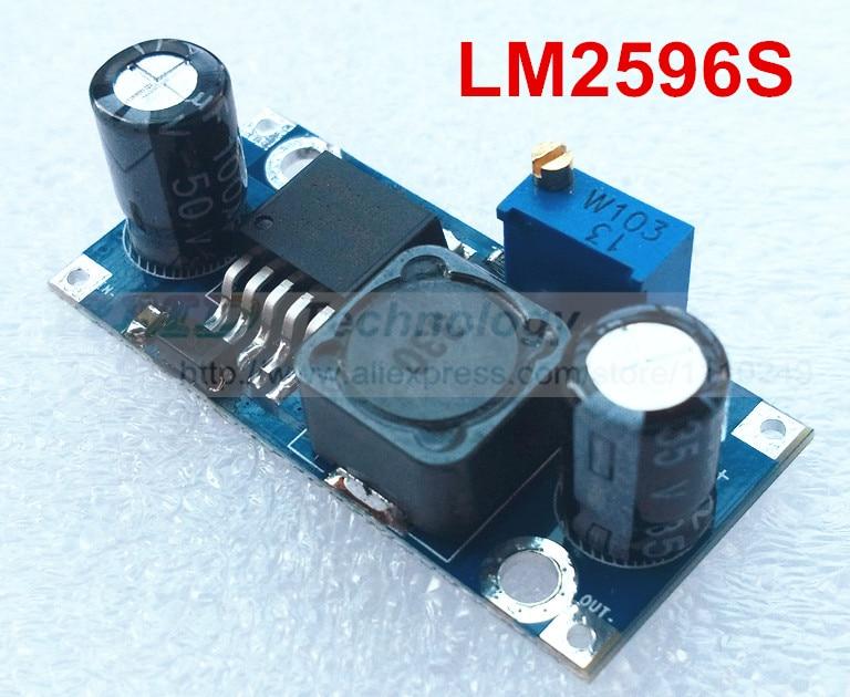2pcs Ultra-small LM2596 power supply module DC / DC BUCK 3A adjustable buck module regulator ultra LM2596S 24V switch 12V 5V 3V