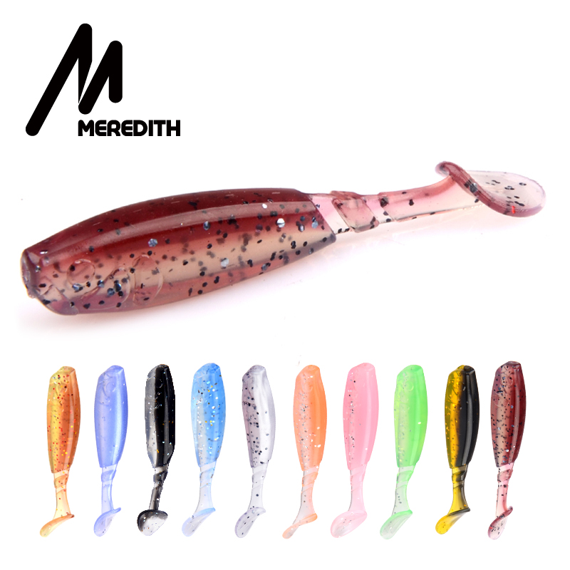 MEREDITH 2 16 quot 10pcs Fishing Soft Bait Professional Lures 55mm 2 3g Quality Silicone Double Color Carp Artificial Lures Wobblers in Fishing Lures from Sports amp Entertainment