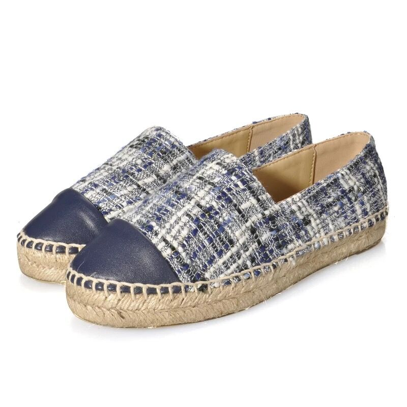 Women Espadrilles Handmade Sheepskin Casual Loafers Hot Sell Mixed Colors Flat Shoes Slip on Plus Size