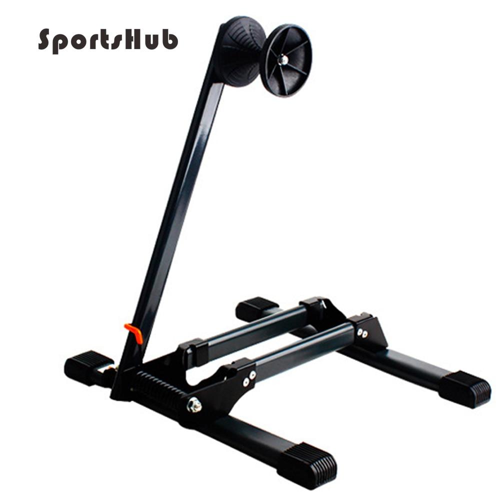 SPORTSHUB supports de vélo stockage vélo présentoir roue moyeu béquille réparation stationnement titulaire vélo Maintenance mise en scène O2K0007