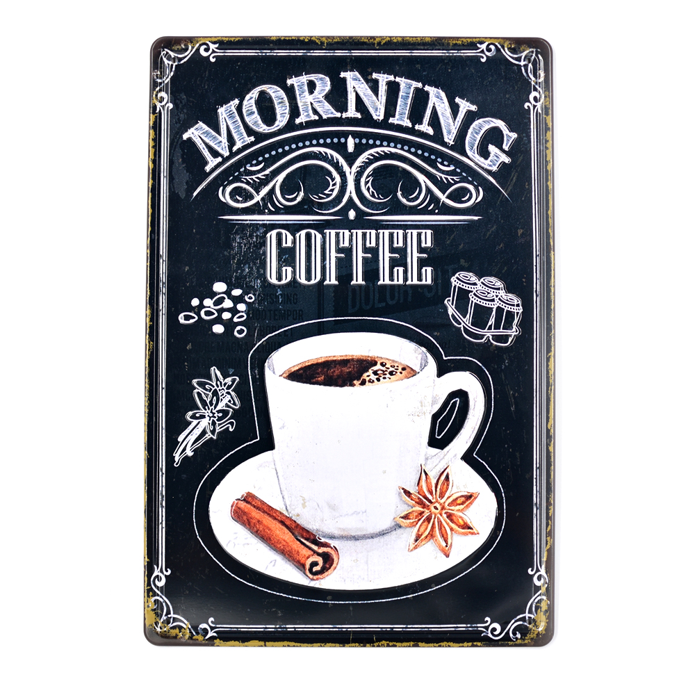 Arte Cafe Lane Cove Plaque Metal Tin Signs Vintage Decorative Coffee Plates Cafe Menu