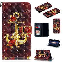 Luxury Painting Leather for Samsung Galaxy Note 9 Flip Wallet Card Photo Samsun Note9 Rose Cover Stander Protective Case