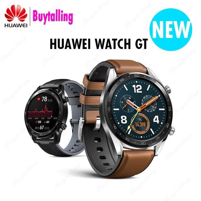 Reloj inteligente Original de Huawei GT para exteriores con batería Extra larga, entrenador científico GPS, Retina de Color Amoled de 1,39 pulgadas