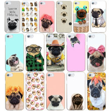 243DF Pug seen things dog Ride butterfly Art Hard Transparent Cover Case for iphone 4 4s 5 5s se 6 6s 8 plus 7 7 Plus X(China)
