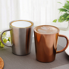 Stainless Steel Coffee Mugs Milk And Thickened Double Wall Tea Cups Big Travel Mug Camping With Handle 350ml