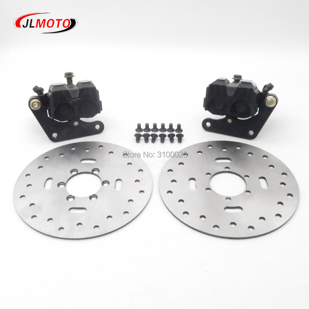 1Pair Left Right Brake Caliper with 2pcs 180mm Hydraulic Brake disc Fit For 250cc 300cc JLA
