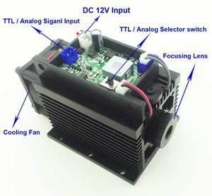 Image 3 - Z możliwością ustawiania ostrości wysokiej mocy 15W laserowa maszyna grawerująca diy głowica do cięcia laser do cięcia i grawerowania metalu drewna 12V 450nm 15000mw TTL analogowy