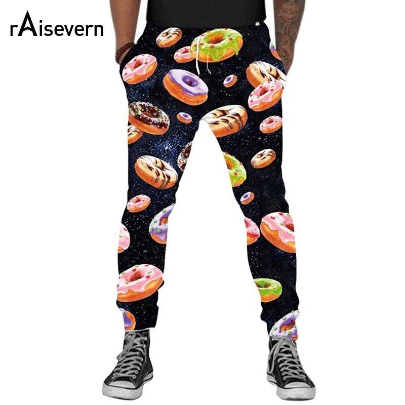 Raisevern Space Donut Pants 3D Printed Men/women Joggers Elastic Waist Long Trousers Fitness Pocket Sweatpants Dropship