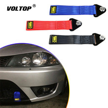 Car Towing Rope High Strength Nylon Trailer Tow Ropes Racing Car Universal Tow Eye Strap Tow Strap Bumper Trailer цена в Москве и Питере