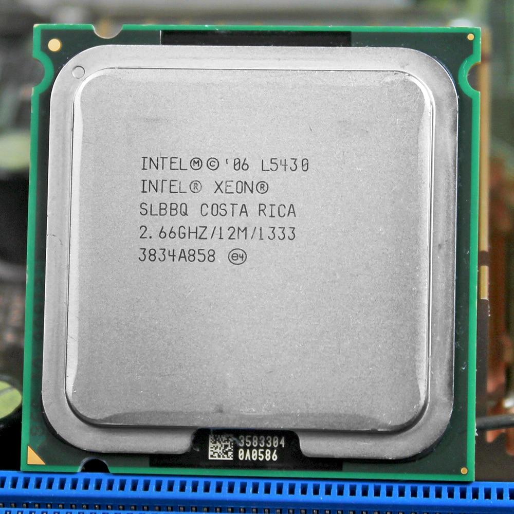 INTEL XONE L5430 Cpu Intel L5430 PROCESSOR Quad Core 2.67MHZ LeveL2 12M  Work On LGA 775