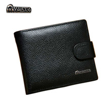 купить Genuine Leather Men Wallets Brand High Quality Design Wallets with Coin Pocket Purses Gift For Men Card Holder Bifold Male Purse дешево