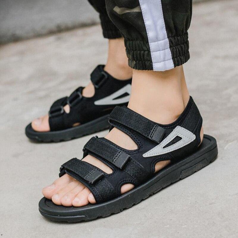 New 2018 men sandals summer flat sandals men casual summer beach shoes size 36 ~ 43