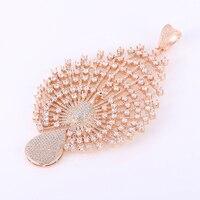 Nowe Mody Indyjskiej Biżuterii Elegancki Cyrkon Paw Charms Dla Tworzenia Biżuterii Urok Mikro Utorować Zawieszki Koraliki Na Naszyjnik Prezent