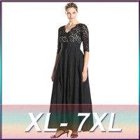 2016 Hot Sale Large Size Lace Long Party Dresses Women S Plus Size 6XL 7XL Evening