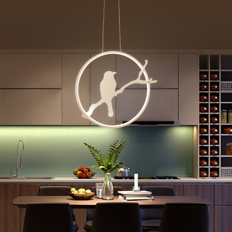 Luckly Bird Aluminum Modern Led Pendant Lights For Dining Kitchen Room Bar Home Dec AC85-265V Hanging Pendant Lamp цена