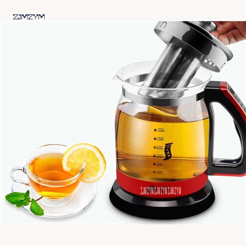 Bouilloire électrique préserver le Pot sain 1.2L 600-700 W théière multifonctionnelle théière théière fendre verre santé vase eau YS-H108